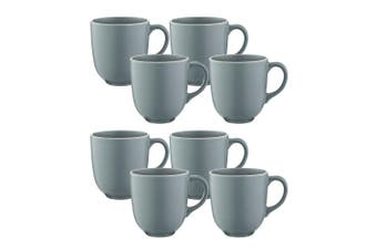8pc Mason Cash 400ml Classic Stoneware Mugs Coffee Tea Hot Drink Home Cup Grey