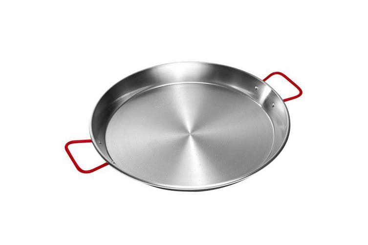 Garcima 42cm Universal Paella Rice Pan Carbon Polished Steel Cookware w  Handles