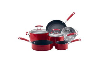 6pc Circulon Contempo Non Stick Induction Cookware Set Oven Dishwasher Safe Red