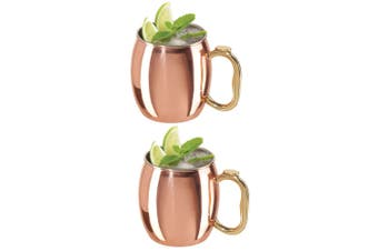 2x Oggi 600ml Moscow Mule Cocktail Stainless Steel Drink Barware Mug Cup Copper