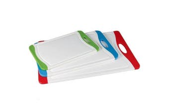 Pyrolux 3 Piece Set Board Red Blue Green Kitchen Cutting Board Anti Microbial