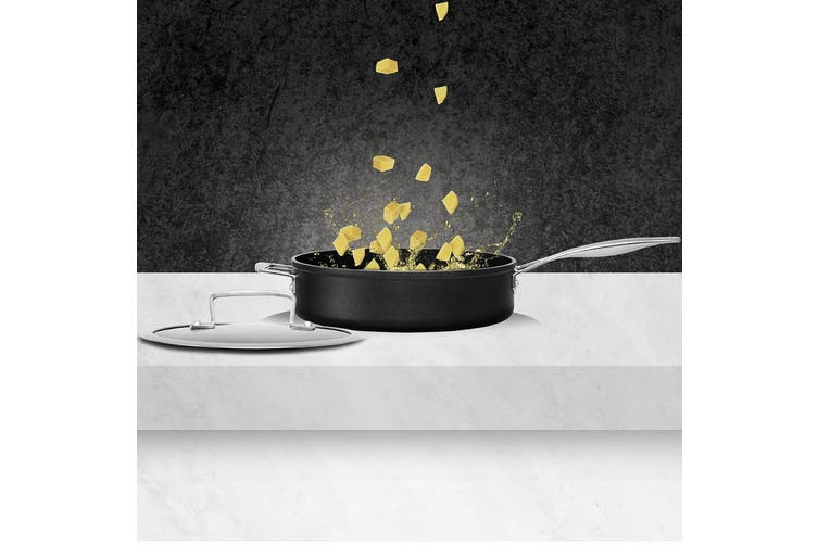 Pyrolux 28cm Ignite Saute Pan w  Lid Non-Stick Cookware Induction Gas Electric