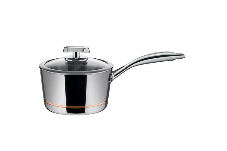 Scanpan Axis 18cm 2.5L Saucepan Induction Gas Stainless Steel w  Lid Oven Safe