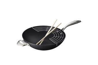 Scanpan Pro IQ 32cm Ceramic Non Stick Wok Pan Deep Frying Induction Oven Safe