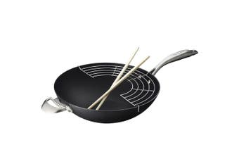 Scanpan Pro IQ 32cm Ceramic Non Stick Wok Pan Deep Frying Induction Oven Safe