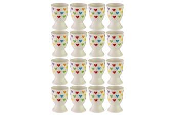 12pc Avanti Porcelain Boiled Egg Cup Holder Stand Kids Children Tableware Hearts