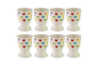 8pc Avanti Porcelain Boiled Egg Cup Holder Stand Kids Children Tableware Hearts
