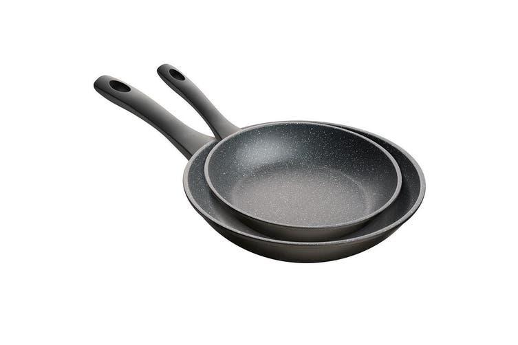 2pc 11820 Pyrostone Frypan Set 20cm 28cm Cookware Round Frying Pan Stoneware