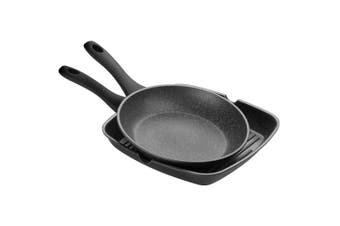 2pc 11825 Pyrolux 26cm Frypan 28cm Grill Pan Cookware Set Oven Induction Safe