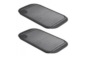 2PK Pyrolux PyroCast 48cm Cast Iron Rectangular Grill Tray Induction w  Handles