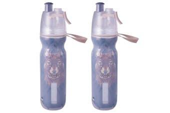 2PK Avanti BR BPA Free 550ml Cold Drink Water Bottle Mist Spray Insulated Sport