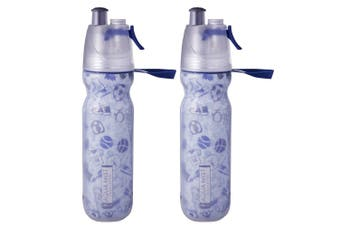 2PK Avanti NV BPA Free 550ml Cold Drink Water Bottle Mist Spray Insulated Sport