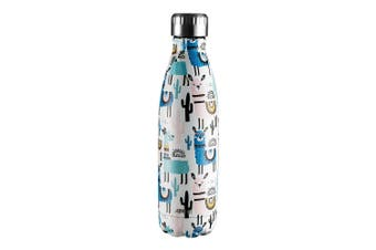 Avanti 500ml Vacuum Water Drink Bottle Llamas Stainless Steel Thermo Hot Cold