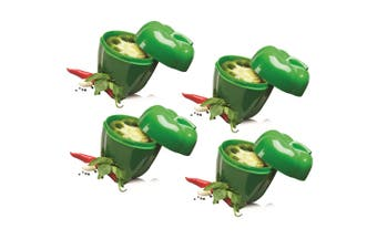 4pc Avanti Capsicum Saver Fresh Food Vegetables Fruits Home Kitchen Tool Green