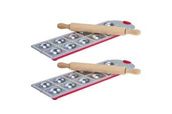 4pc Avanti Ravioli Pasta Making Tray Rolling Pin Kitchen Maker Mould Mold Set SL