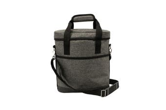 Karlstert Premium 3 Bottle Insulated Tote Carrier Wine Outdoor Bag Charcoal Grey