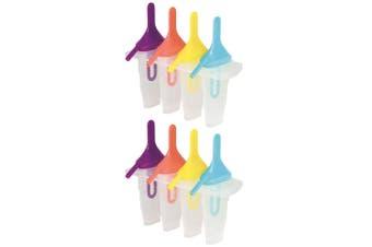 2x 4PK Avanti Sipper Ice Block Moulds DIY Popsicle Ice Cream Maker Kitchen Mold