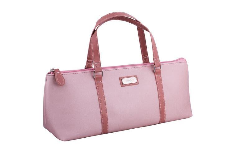Avanti Wine Bottle Insulated Cooler Handbag Tote Carrier Purse Bag Pink Blush