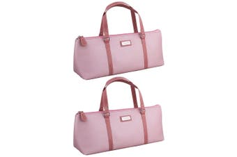 2x Avanti Wine Bottle Insulated Cooler Handbag Tote Carrier Purse Bag Pink Blush
