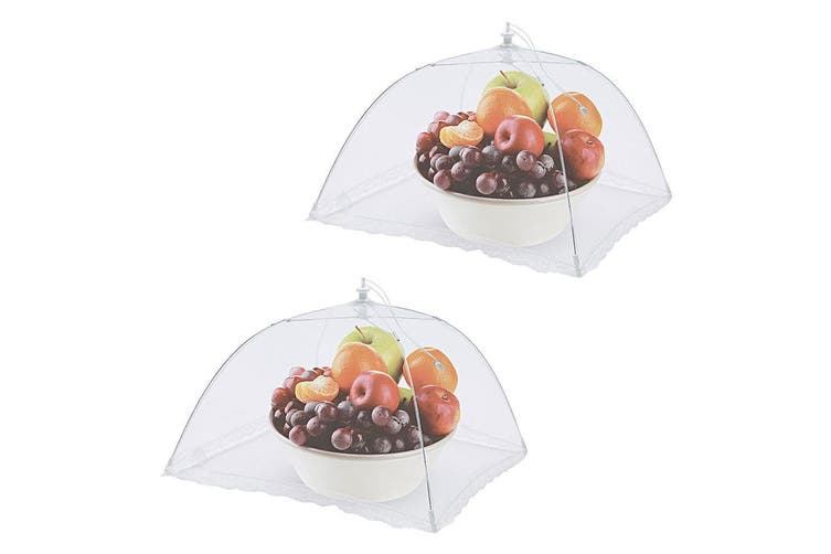 2x Avanti 12610 Square Nylon Net Food Cover 40cm Fly Screen Protector Foldable