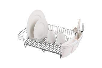 Avanti Heavy Duty Large Dish Rack Drying Holder f Cup Plates Cutlery Drainer WHT