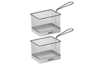2pc Avanti Mini Fryer Basket Kitchen Bistro Chips Serving Bowl Food Presentation