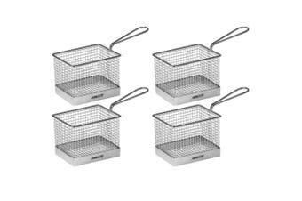 4pc Avanti Mini Fryer Basket Kitchen Bistro Chips Serving Bowl Food Presentation