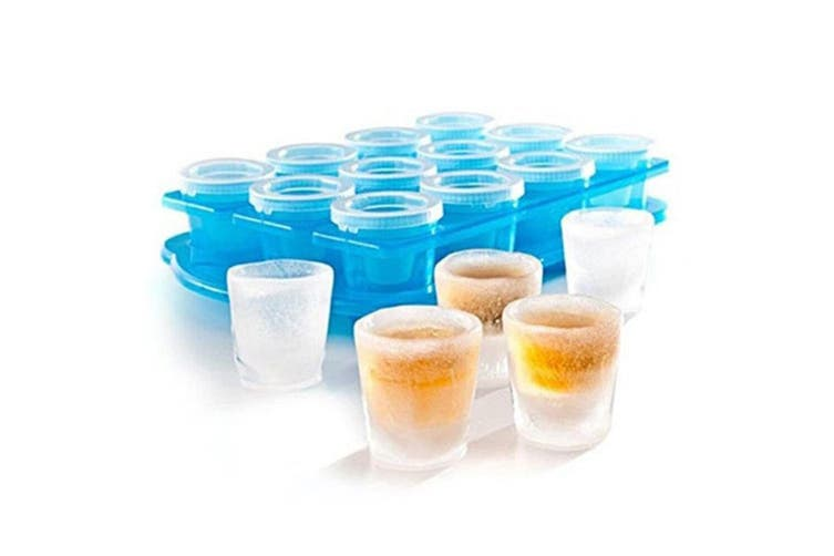Avanti Ice Shot Glass Mould 12pk Included Stand Drinking Games Party Spirits