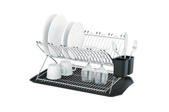 Avanti Reno Stainless Steel 2 Tier Dish Rack Kitchen Holder Stand Dryer Utensils
