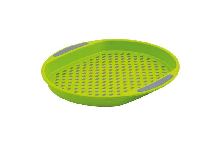 Avanti 40cm Round Non Slip Serving Plastic Tray Drink Food Dishes Server Green