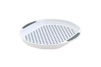 Avanti 40cm Round Non Slip Serving Plastic Tray Drink Food Dishes Server White