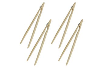 4x Avanti 12754 Bamboo Toast Tongs w  Magnet Utensil for Bread Crumpet Kitchen