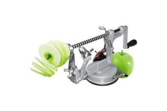 Avanti 25cm Apple Peeler Corer Slicer w  Suction Base Potato Pear Fruit Grey
