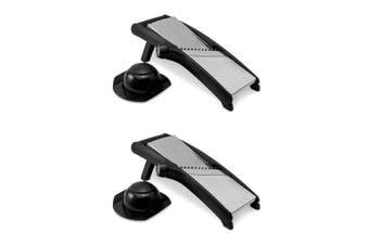 2x Avanti Mandolin Pro Slicer Steel Cutter Adjustable 1-9mm Blade Julienne Slice