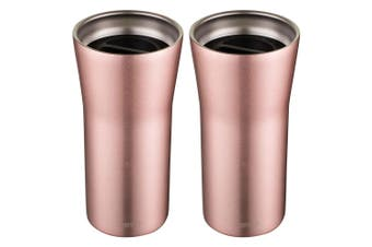 2PK Avanti 360 Gocup 335ml Stainless Steel Double Wall Insulated Tumbler Rose GD