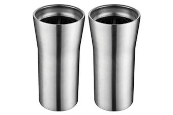 2x Avanti 360 Gocup 335ml Stainless Steel Double Wall Insulated Flask Tumbler SL