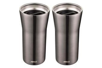 2x Avanti 360 Gocup 335ml Stainless Steel Double Wall Insulated Tumbler Gunmetal