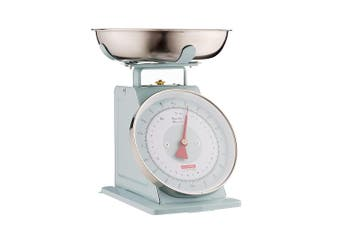 Typhoon Living 4kg Kitchen Scale Food Weight Measure w Stainless Steel Bowl Blue