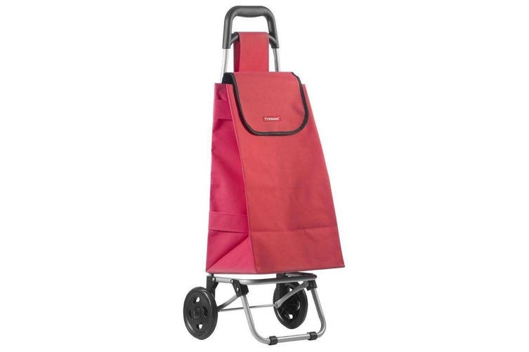 Typhoon Red Grocery Shopping Cart Trolley Portable Foldable Bag Basket w  Wheels