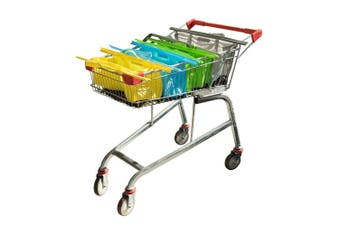4pc Karlstert Sort & Carry Food Grocery Carrier Shopping Bags for Trolley Cart