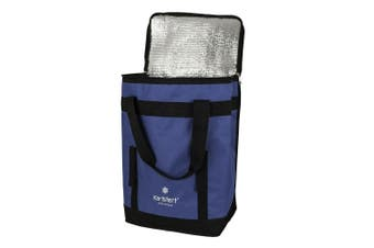 Karlstert Sort & Carry Insulated Picnic Lunch Cooler Shopping Storage Bag Blue