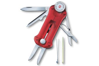 Victorinox Red Swiss Army Knife Sport Golf Tool Groove Cleaner Golfer Golfing