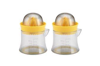 2x Edge Design Manual Citrus Juicer Lemon Lime Oranges Kitchen Squeezer Clear YL