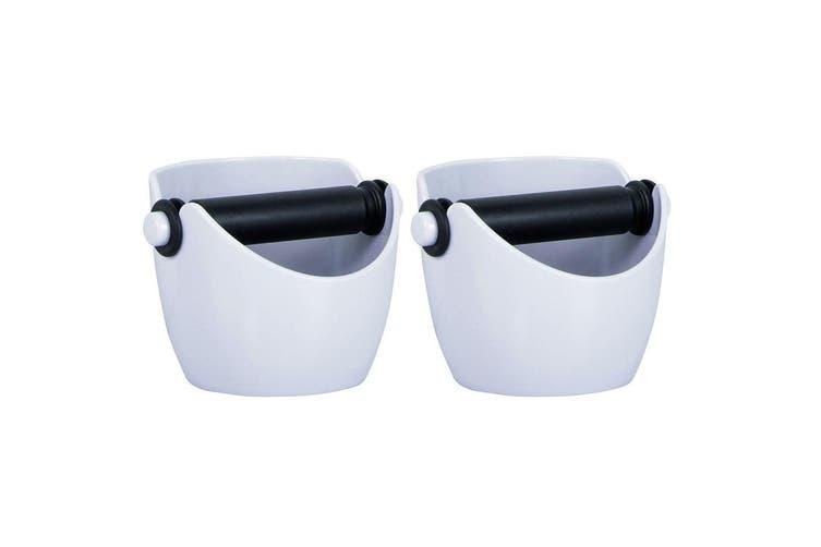 2PK Avanti Knock Box Coffee Barista Accessory Compact Anti-Slip Tamper Silver