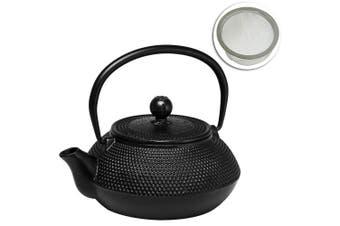 Avanti Hobnail Design Cast Iron Teapot 800ml Tea Coffee Kettle Pot w Tea Infuser