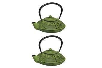 2PK Avanti 770ml Dragon Fly Cast Iron Teapot w Removable S S Infuser Lid Tea Pot