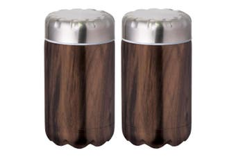 2x Avanti 500ml Fluid Double Wall Insulated Food Flask Stainless Steel Driftwood