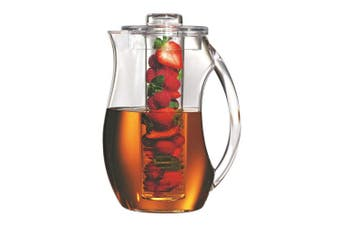Serroni Fresco 2.8L Fruit Infusion Pitcher Juice Water Container Jug Clear