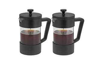 2PK Avanti 600ml 4 Cups Sorrento Coffee Plunger S S Glass Coffee Press Maker