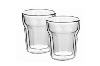 2pc Avanti 100ml Nove Twin Wall Glass for Coffee Tea Water Hot Cold Drink Cup